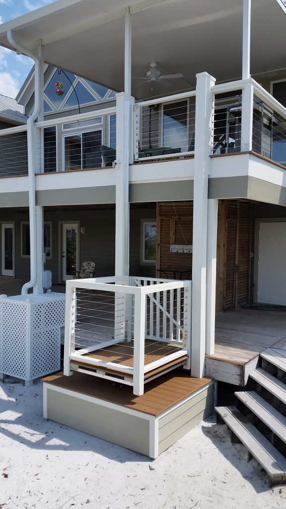 Home aquarius outdoor elevators florida alabama mississippi for Beach house lifts